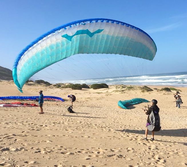 paragliding training courses in Wilderness, Sedgefield Garden Route